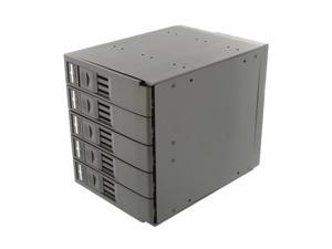 "SNT SNT-SAC3051TL 5 x 3.5"" HDD in 3 x 5.25"" Bay SAS/SATA Trayless Backplane Hot Swap RAID Cage"