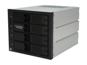 ICY DOCK MB974SP-B Tray-less 4 in 3 SATA I/II/III Hot-Swap Backplane RAID Cage Module w/ eSATA&USB2.0
