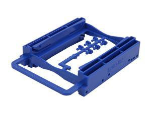 "BYTECC Bracket-252B 2.5"" Dual HDD/SSD Screwless Bracket For 3.5"" Drive Bay - Blue"