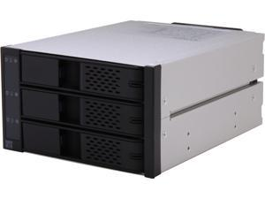 "ICY DOCK Tray-less 3 x 3.5"" HDD in 2 x 5.25"" Bay SAS / SATA Hot Swap Rack / Cage / Module - FlexCage MB973SP-1B"