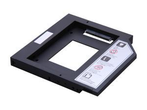 "SilverStone TS09 12.7mm Height 2.5"" SATA HDD/SSD Caddy for Laptop / 2.5"" SSD/HDD Conversion Tray (Black)"