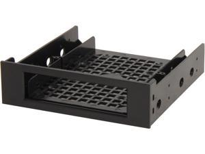 "Rosewill RDRD-12001 2.5"" or 3.5"" HDD/ SSD Drive Bracket For 5.25"" Drive Bay, Black"