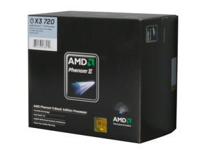 AMD Phenom II X3 720 2.8GHz Socket AM3 Black Processor