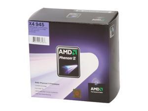 AMD Phenom II X4 945 3.0GHz Socket AM3 HDX945FBGIBOX Processor
