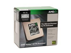 AMD Athlon 64 FX-72 2.8GHz Socket F (1207 FX) ADAFX72DIBOX DSDC Architecture Processor