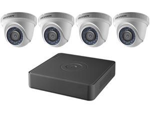 Hikvision DVR T7104Q1TA Kit 4 Channel 1080p 4 Turret Cameras 2MP 2.8MM with 1TB HDD Retail