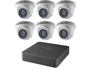 Hikvision DVR T7108Q2TA Kit 8 Channel 1080p 6 Turret Cameras 2MP 2.8MM with 2TB HDD Retail