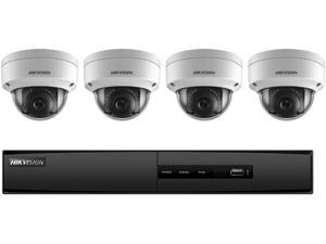 Hikvision NVR I7604N1TP Kit 4 Channel 5MP 4 Outdoor Turret  Cameras 2MP 2.8MM with 1TB HDD Retail