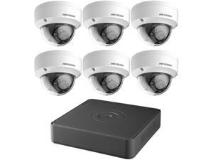 Hikvision DVR T7108Q2TB Kit 8 Channel 1080p 6 Dome Cameras 2MP 2.8MM with 2TB HDD Retail