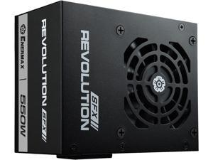 Enermax Revolution SFX 550W 80 PLUS Gold Full Modular Semi-Fanless Power Supply with SFX-to-ATX PSU Adapter Bracket, ERV550SWT