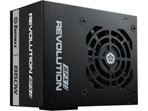 Enermax Revolution SFX 650W 80 PLUS Gold Full Modular Semi-Fanless Power Supply with SFX-to-ATX PSU Adapter Bracket, ERV650SWT