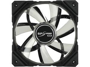 Enermax D.F.VEGAS DUO UCDFVD12P Cooling Fan - 120 mm - 1500 rpm61.9 CFM - 22 dB(A) Noise - 4-pin, 4-pin PWM, Fan Power Adapter - Red, Green LED
