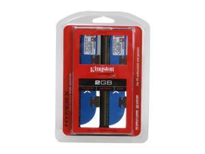 HyperX 2GB (2 x 1GB) 184-Pin DDR SDRAM DDR 400 (PC 3200) Dual Channel Kit Desktop Memory Model KHX3200AK2/2GR