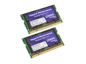 HyperX 4GB (2 x 2GB) 200-Pin DDR2 SO-DIMM DDR2 800 (PC2 6400) Dual Channel Kit Laptop Memory