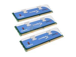 HyperX 3GB (3 x 1GB) 240-Pin DDR3 SDRAM DDR3 1375 (PC3 11000) Triple Channel Kit Desktop Memory Model KHX11000D3LLK3/3GX