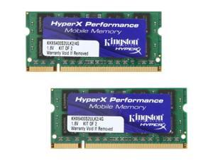 HyperX 4GB (2 x 2GB) 200-Pin DDR2 SO-DIMM DDR2 800 (PC2 6400) Laptop Memory