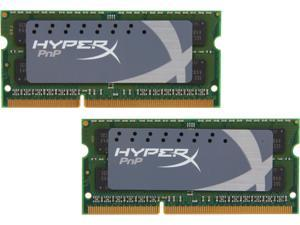 HyperX 8GB (2 x 4GB) 204-Pin DDR3 SO-DIMM DDR3 2133 (PC3 17000) Laptop Memory HyperX Plug n Play Model KHX21S12P1K2/8