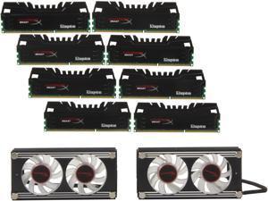 HyperX Beast 64GB (8 x 8GB) 240-Pin DDR3 SDRAM DDR3 2133 Desktop Memory (with KHX-Fan) Model KHX21C11T3FK8/64X