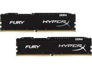 HyperX Fury 16GB (2 x 8GB) DDR4 2666 RAM (Desktop Memory) CL15 XMP Black DIMM (288-Pin) HX426C15FBK2/16