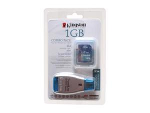 Kingston 1GB Secure Digital (SD) Flash Card w/TravelLite Reader Model FCR-TL+SD/1GB