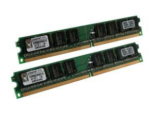 Kingston ValueRAM 1GB (2 x 512MB) 240-Pin DDR2 SDRAM DDR2 800 (PC2 6400) Dual Channel Kit Desktop Memory Model KVR800D2N5K2/1G