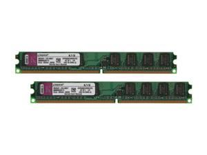 Kingston ValueRAM 2GB (2 x 1GB) 240-Pin DDR2 SDRAM DDR2 800 (PC2 6400) Dual Channel Kit Desktop Memory Model KVR800D2N5K2/2G