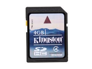 Kingston 4GB Secure Digital High-Capacity (SDHC) Flash Card Model SD4/4GB
