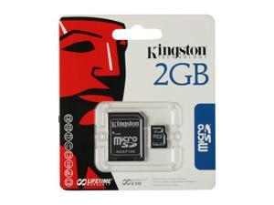 Kingston 2GB MicroSD Flash Card  w/ SD Adapter