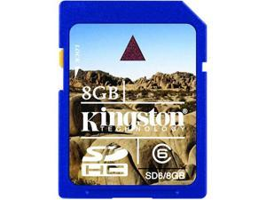 Kingston 8GB Secure Digital High-Capacity (SDHC) Flash Card Model SD6/8GB