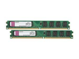 Kingston ValueRAM 4GB (2 x 2GB) 240-Pin DDR2 SDRAM DDR2 800 (PC2 6400) Dual Channel Kit Desktop Memory Model KVR800D2N5K2/4G