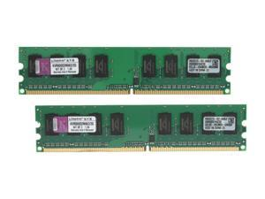Kingston 2GB (2 x 1GB) 240-Pin DDR2 SDRAM DDR2 800 (PC2 6400) Dual Channel Kit Desktop Memory Model KVR800D2N6K2/2G