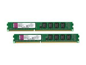 Kingston ValueRAM 2GB (2 x 1GB) 240-Pin DDR3 SDRAM DDR3 1333 (PC3 10600) Dual Channel Kit Desktop Memory Model KVR1333D3N9K2/2G