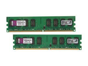 Kingston ValueRAM 4GB (2 x 2GB) 240-Pin DDR2 SDRAM DDR2 800 (PC2 6400) Dual Channel Kit Desktop Memory Model KVR800D2N6K2/4G