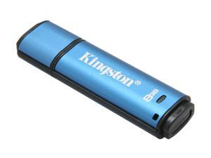 Kingston DataTraveler Vault - Privacy Edition 8GB Flash Drive (USB2.0 Portable) 256bit AES Encryption Model DTVP/8GB