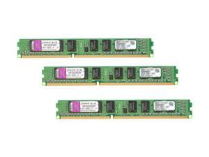 Kingston ValueRAM 3GB (3 x 1GB) 240-Pin DDR3 SDRAM DDR3 1333 (PC3 10666) Triple Channel Kit Desktop Memory