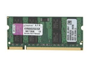 Kingston 2GB 200-Pin DDR2 SO-DIMM DDR2 800 (PC2 6400) Laptop Memory Model KVR800D2SO/2GR