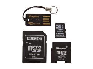 Kingston 16GB microSDHC Flash Card with Adapters & USB Reader