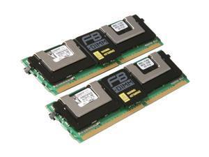 Kingston ValueRAM 8GB (2 x 4GB) ECC Fully Buffered DDR2 800 (PC2 6400) Server Memory Model KVR800D2D4F5K2/8G