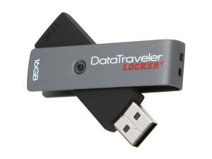 Kingston DataTraveler Locker+ 16GB USB 2.0 Flash Drive Hardware-based encryption