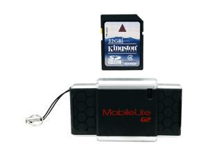 Kingston 32GB Secure Digital High-Capacity (SDHC) Flash Card w/ MobileLiteG2 Reader Model FCR-MLG2+SD4/32GB