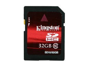 Kingston 32GB Secure Digital High-Capacity (SDHC) Class 10 Flash Card Model SD10/32GB