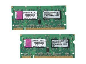 Kingston 2GB (2 x 1GB) 200-Pin DDR2 SO-DIMM DDR2 800 (PC2 6400) Laptop Memory Model KVR800D2S6K2/2G