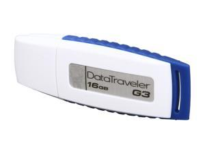 Kingston DataTraveler G3 16GB USB 2.0 Flash Drive (White & Blue)