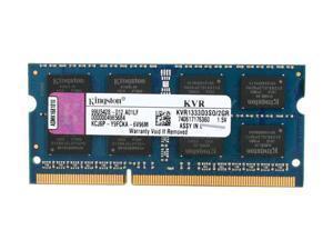 Kingston 2GB 204-Pin DDR3 SO-DIMM DDR3 1333 Laptop Memory Model KVR1333D3SO/2GR