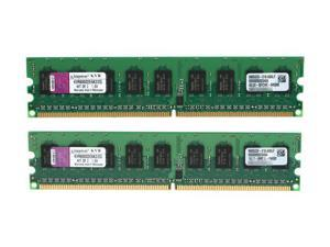Kingston ValueRAM 2GB (2 x 1GB) 240-Pin DDR2 SDRAM Server Memory Model KVR800D2E6K2/2G