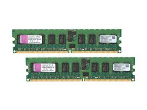 Kingston 4GB (2 x 2GB) 240-Pin DDR2 SDRAM ECC Registered DDR2 667 (PC2 5300) Server Memory Model KVR667D2D8P5K2/4G