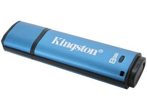 Kingston DataTraveler Vault - Privacy Managed 8GB USB 2.0 Flash Drive 256bit AES Encryption