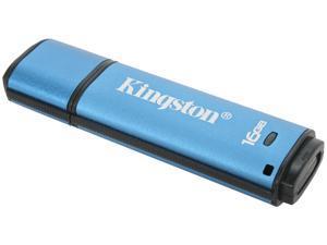 Kingston DataTraveler Vault - Privacy Managed 16GB USB 2.0 Flash Drive 256bit AES Encryption