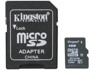 Kingston 4GB microSDHC Flash Card
