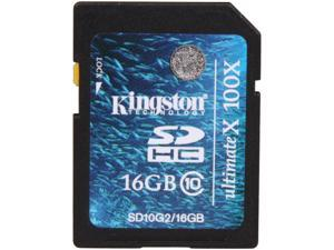 Kingston 16GB Secure Digital High-Capacity (SDHC) Flash Card Model SD10G2/16GB